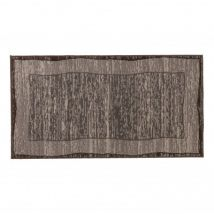 Tapis bicolore gris/taupe Taille 80X150