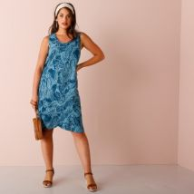 Robe sans manches émeraude / turquoise Taille 44