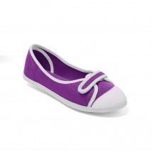 Ballerines toile violet / blanc Taille 37