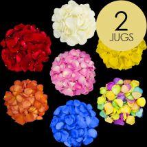 2 Jugs of Mixed Rose Petals
