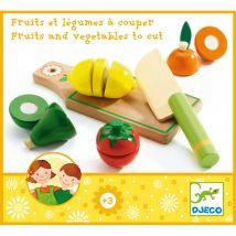 Schneidebrett mit Obst & Gemüse aus Holz