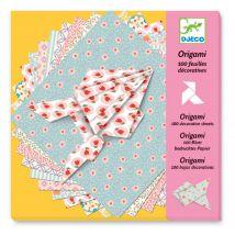 leuke knutselset met 100 origami blaadjes