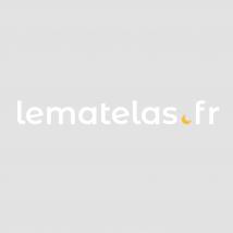 Armoire 3 portes 2 tiroirs en bois coloris noyer et blanc - AR6020