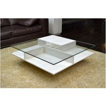 1000 Square Travertine Marble Coffee Table - LANCASTER