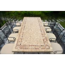 160-200-240cm Outdoor Garden Patio Mosaic Marble Table TUSCANY