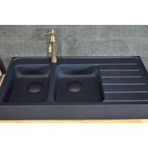 1200mm Double bowls Black Granite Kitchen Sink - BESSO SHADOW
