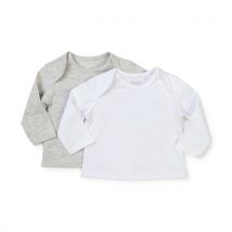 Manor Baby - Pack duo, T-shirts, manches longues - Enfants - Blanc - 50
