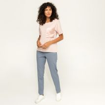 Manor Woman - T-shirt, col rond, manches courtes - Femme - Rose Clair - M