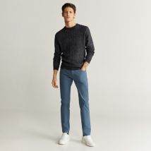 Mango Man - Pantalone, Tapered Fit - Uomo - Blu Chiaro - 42