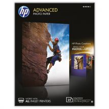 HP - Advanced Glossy Q8696A - Papier photo 25 feuilles - 13 x 18 cm