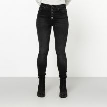 Only - Jeans, High Rise Skinny Fit Blush Black Stoned XS - Damen