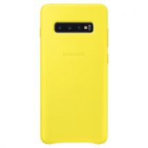 Samsung - Coque pour Galaxy S10+ Leather Jaune