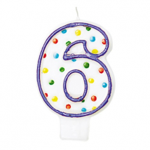 amscan - Bougie chiffre 6 - Enfants - Multicolore
