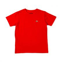Lacoste T-shirt, col rond, manches courtes - Rouge Taille 152