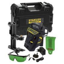 Kit niveau laser multiligne 360° vert + accessoires + malette + multisupport fatmax- stanley