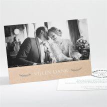 Danksagungskarte Hochzeit Perfekt geplant anpassbar - Farbe Grün, Beige Und Weiß - 13.8 x 9.5 cm - MeineKarten