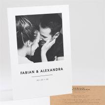 Einladungskarte Hochzeit Love first anpassbar - Farbe Beige, Braun Und Weiß - 14.5 x 21 cm - MeineKarten