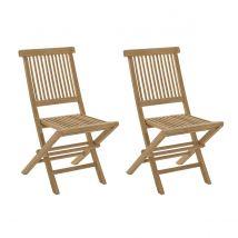 Chaises de jardin en teck lot de 2 BORNEO Miliboo