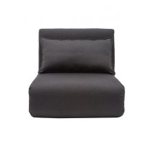 Chauffeuse convertible design gris anthracite SLEEPER Miliboo