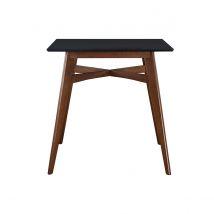 Table de bar carrée bois et noire LEENA Miliboo