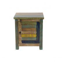 Table de chevet design bois recyclé MAYOTTE Miliboo