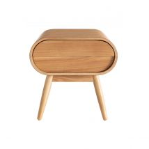 Table de chevet design frêne 1 tiroir BJORG Miliboo