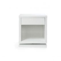 Table de chevet design pivotante blanc brillant MAX Miliboo