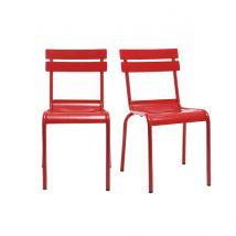 Design-Metallstühle Rot 2er-Set SHERMAN