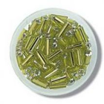 Impex Glass Bugle Beads  Lime