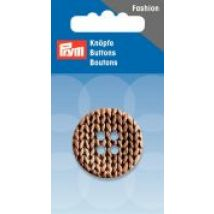 Prym Knitted Texture Print 4 Hole Round Buttons  Beige