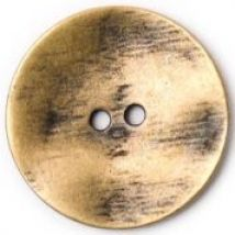 Crendon Round 2 Hole Textured Metal Buttons 34mm  Bronze