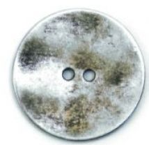 Crendon Round 2 Hole Textured Metal Buttons 34mm  Silver