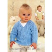 Sublime Baby Sweater & Tank Top Cashmere Silk Merino Knitting Pattern 6033  4 Ply