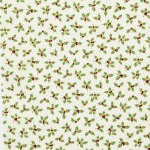 Tissu De Noël Coton Imprimé Houx - Mondial Tissus
