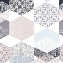 Protège Table Polygone Bleu - Mondial Tissus