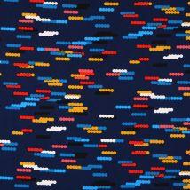 Tissu Satin Polyester Traits Multicolores - Mondial Tissus