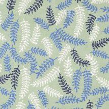 Tissu Coton Vert Feuilles - Mondial Tissus
