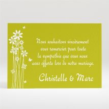Carte de remerciement mariage Marguerite de l'Amour personnalisable - 11 x 7,5 cm - Monfairepart