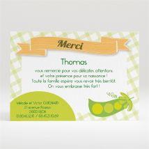 Remerciement naissance personnalisable - 11 x 7,5 cm - Monfairepart