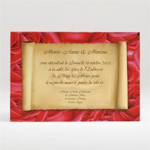 Carton d'invitation mariage Nos deux colombes personnalisable - Nature / Champêtre - Couleur Beige - 11 x 7,5 cm - Monfairepart