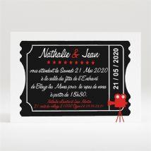 Carton d'invitation mariage Notre Film personnalisable - 11 x 7,5 cm - Monfairepart