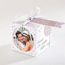 Boîte de dragées mariage personnalisable - Couleur Violet - 4,5 cm - Monfairepart
