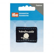 Label 'handmade' 40 X 30 Mm, Schwarz - MT Stofferie