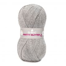 Strickgarn Dmc Knitty 4 Glitter Grau - MT Stofferie