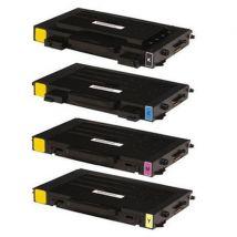 Compatible Multipack Samsung CLP-500D7K/5Y Full Set Toner Cartridges (4 Pack)