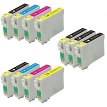 Compatible Multipack Epson Stylus Photo RX420 Printer Ink Cartridges (11 Pack) -C13T05514010