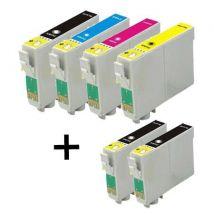 Compatible Multipack Epson Stylus DX4800 Printer Ink Cartridges (6 Pack) -C13T061140