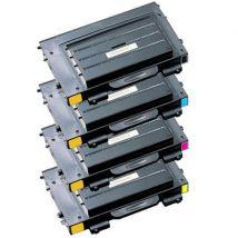 Compatible Multipack Samsung CLP-510D7K/5Y Full Set Toner Cartridges (4 Pack)