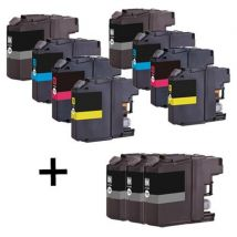 Compatible Multipack Brother MFC-J4510DW Printer Ink Cartridges (11 Pack) -LC127XLBK