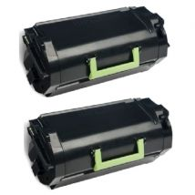 Compatible Multipack Lexmark MS610dn Printer Toner Cartridges (2 Pack) -50F2X00